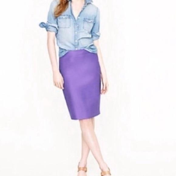 J. Crew Dresses & Skirts - J.CREW Solid Purple No. 2 Pencil Skirt